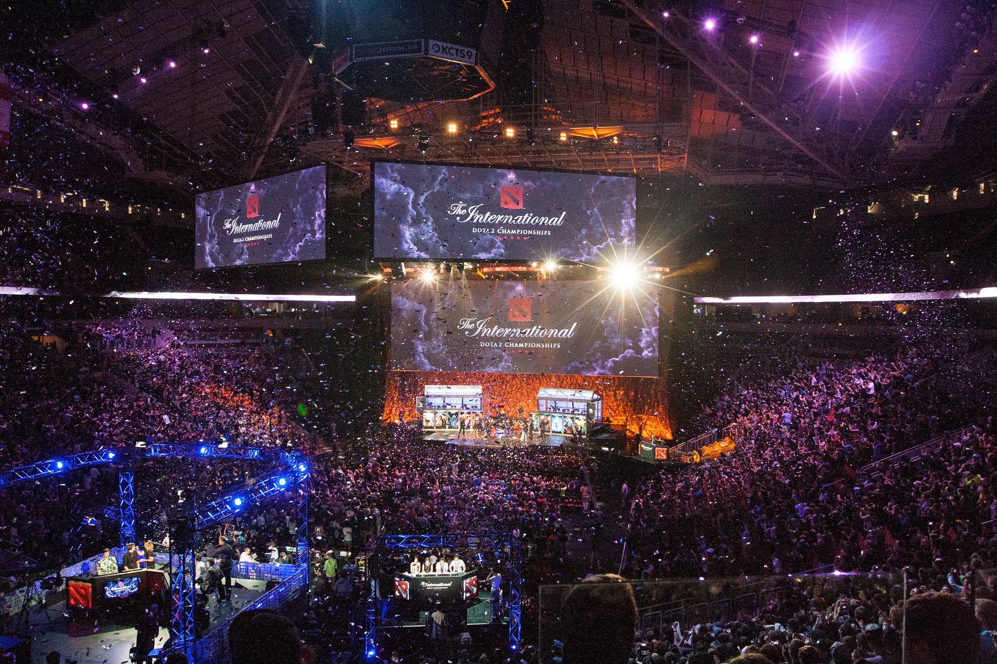 Dota 2 International at the arena
