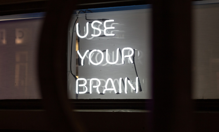 """Use your brain"" Neon sign"