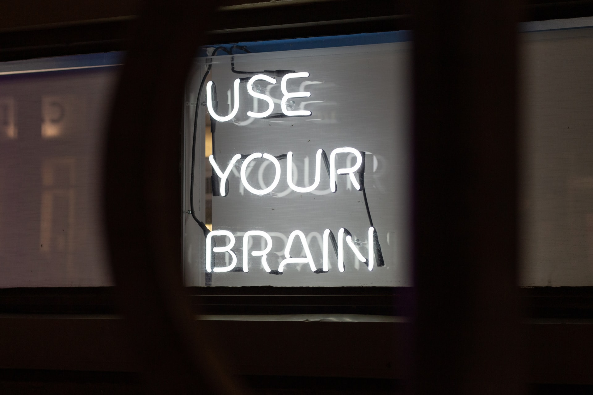"""""""Use your brain"""" Neon sign"""